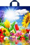 Купить оптом полиэтиленовый пакет Море цветов с петлевой ручкой от Тико