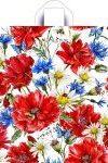 Купить оптом полиэтиленовый пакет Луговые цветочки с петлевой ручкой от Тико