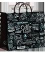 подарочный пакет, полиэтиленовый пакет, мягкий пластик, пакет с пластиковыми ручками, Интерпак, Кофе-брейк